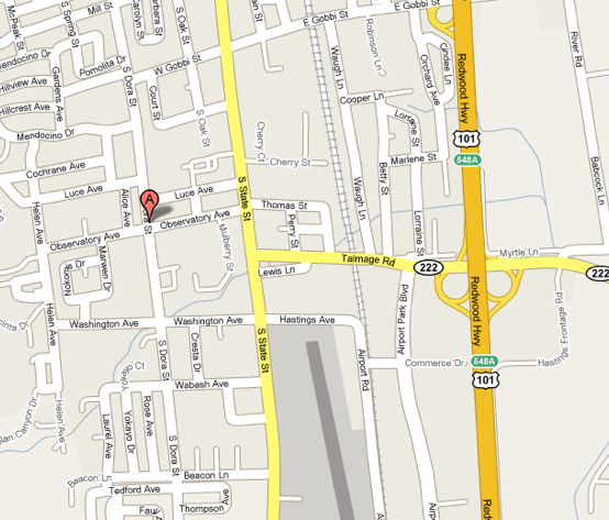 Ukiah Dentist CA Dr Virginia Powell Office location and – Map Ukiah Ca